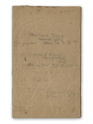 View Ella Rogers' 1908-1915 Diary