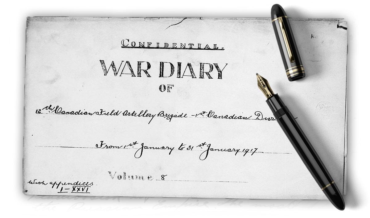 Inside of pocket diary